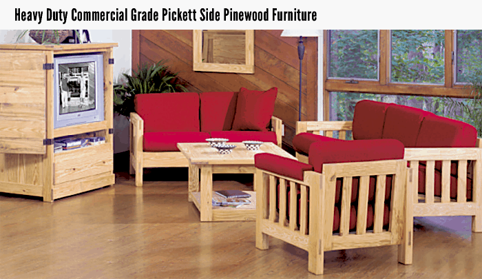 Heavy Duty Commercial Grade Pickett Side Pinewood Furniture