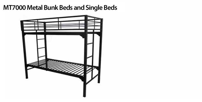 description the construction of the mt7000 institutional metal bunk beds includes 2 square posts and 1 square and round cross tubes